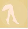 Icono depilación, piernas depiladas